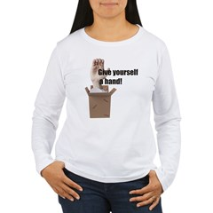 Give Yourself A Hand Women's Long Sleeve T-Shirt