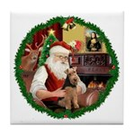 Santa's Welsh T Tile Coaster