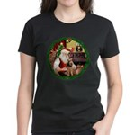 Santa's Welsh T Women's Dark T-Shirt