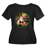 Santa's Welsh T Women's Plus Size Scoop Neck Dark