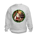 Santa's Welsh T Kids Sweatshirt