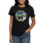 XmasMusic 2MC/Lab Pup (blk) Women's Dark T-Shirt