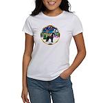 XmasMusic 2MC/Lab Pup (blk) Women's T-Shirt