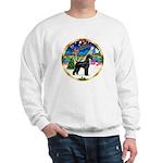 XmasMusic 2MC/Lab Pup (blk) Sweatshirt