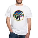 XmasMusic 2MC/Lab Pup (blk) White T-Shirt