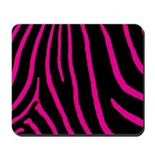 Hot Pink Zebra Print Mousepad
