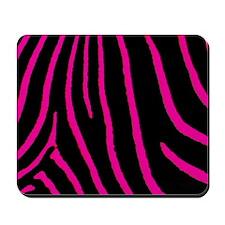 Hot Pink Zebra Print Mousepad