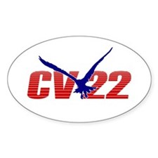 'CV-22' Oval Decal