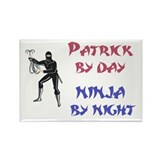 Patrick - Ninja by Night Rectangle Magnet