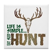 Eat Sleep Hunt Tile Coaster
