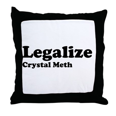 I Love Crystal Meth Throw Pillow