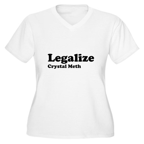 I Love Crystal Meth Womens Plus Size V-Neck T-Shi