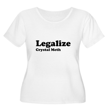 I Love Crystal Meth Womens Plus Size Scoop Neck T