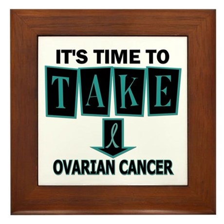 Take Down Ovarian Cancer 3 Framed Tile