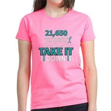 Take Down Ovarian Cancer 4 Tee