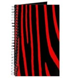 Red & Black Zebra Print Journal