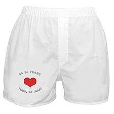 55 Young At Heart Birthday Boxer Shorts