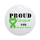 Caregiver Lymphoma Ornament (Round)