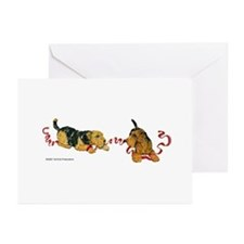 Welsh Terriers play to Win! Greeting Cards (Packag