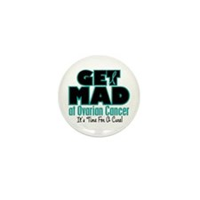 Get Mad At Ovarian Cancer 1 Mini Button (100 pack)