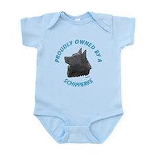 Proudly Owned Schipperke Infant Bodysuit