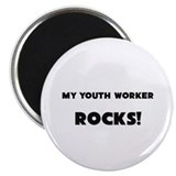 "MY Youth Worker ROCKS! 2.25"" Magnet (10 pack)"