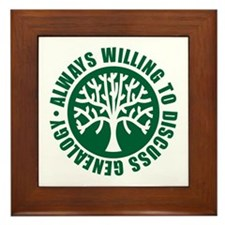Always Willing Framed Tile