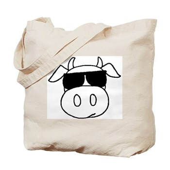 Cow Head Tote Bag