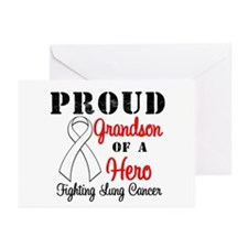 ProudGrandsonLungCancer Hero Greeting Cards (Pk of