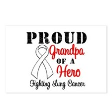 ProudGrandpaLungCancer Hero Postcards (Package of