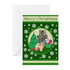 Santa & A Chow Chow Greeting Cards (Pk of 20)