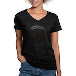 What Happens Women's V-Neck Dark T-Shirt