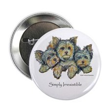 """Yorkshire Terrier Puppies 2.25"""" Button (100 pack)"""