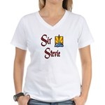 Sir Stevie Women's V-Neck T-Shirt