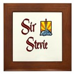 Sir Stevie Framed Tile