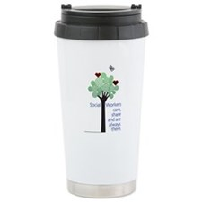 Social Workers Care Ceramic Travel Mug