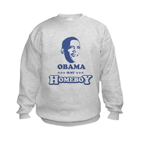 BARACK OBAMA IS MY HOMEBOY Kids Sweatshirt