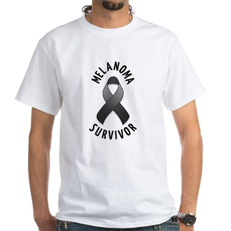 Melanoma Survivor White T-Shirt