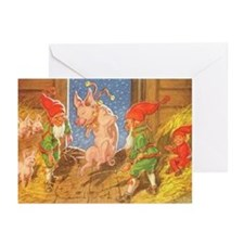 Cute Glaedelig jul Greeting Cards (Pk of 20)