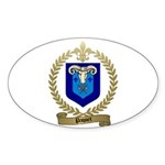 PAQUET Family Crest Oval Sticker