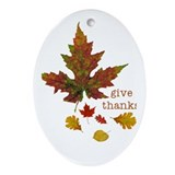 Pretty Thanksgiving Oval Ornament