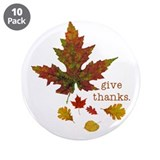 "Pretty Thanksgiving 3.5"" Button (10 pack)"