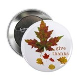 "Pretty Thanksgiving 2.25"" Button (10 pack)"