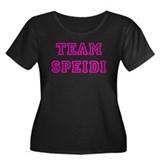 TEAM SPEIDI Women's Plus Size Scoop Neck Dark T-Sh