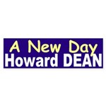 A New Day: Howard Dean (bumper sticker)