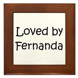 Cute Fernanda Framed Tile