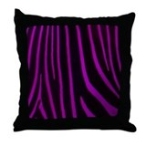 Purple Zebra Print Throw Pillow