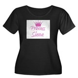 Princess Siena Women's Plus Size Scoop Neck Dark T
