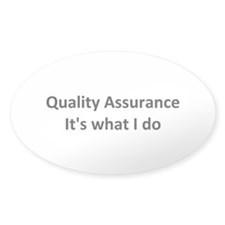 QA Oval Sticker (10 pk)