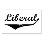 Liberal Rectangle Sticker